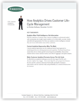 How Analytics Drives Customer Life- Cycle Management