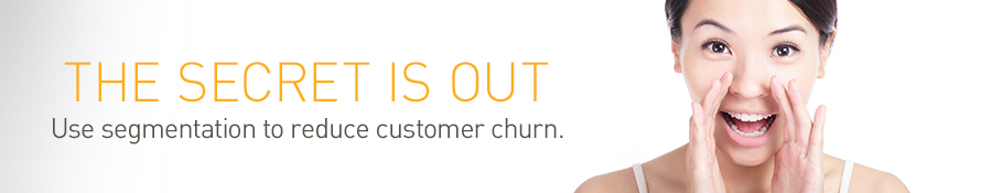 The secret is out.  Use segmentation to reduce customer churn.