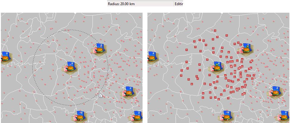 radius select