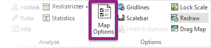 Map Options button