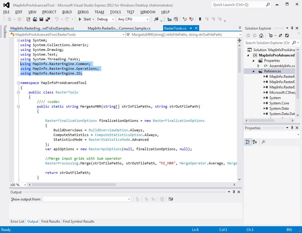 Developer Dojo Getting Started With The Mapinfo Pro Raster Api