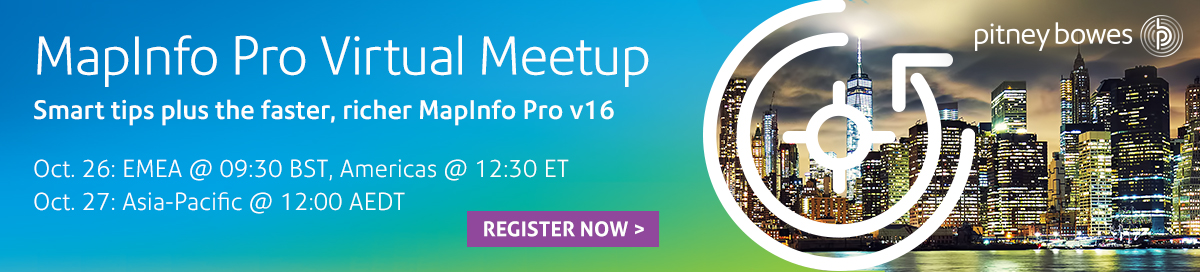 MapInfo Pro Virtual Meetup