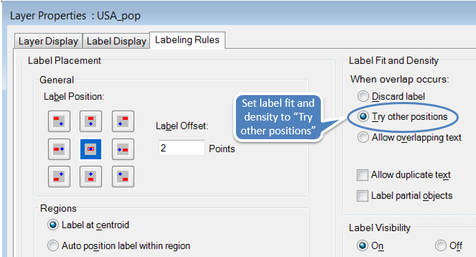 Set label rules for query layer