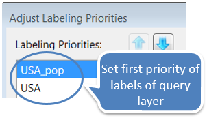 Set label priority